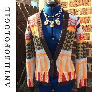 Anthropologie Sparrow Aztec- Style Cardigan